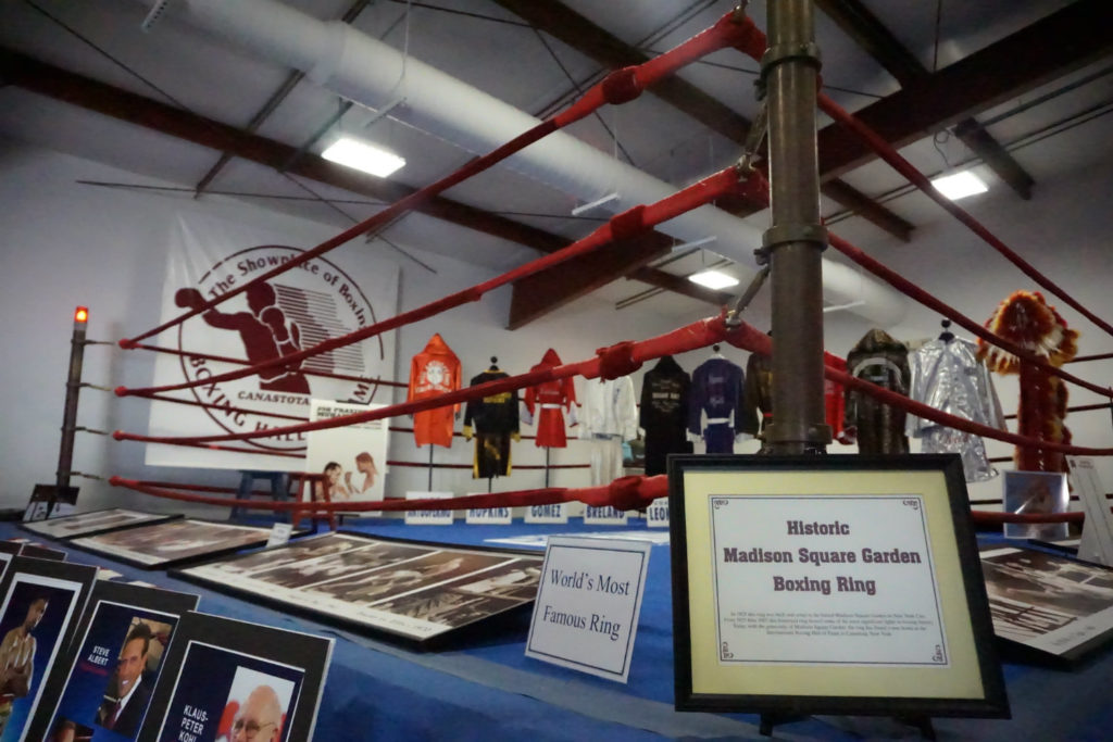 Historic Madison Square Garden Boxing Ring at the International Boxing Hall of Fame in Canastota, New York
