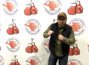 Chris Clemens at the International Boxing Hall of Fame in Canastota, New York