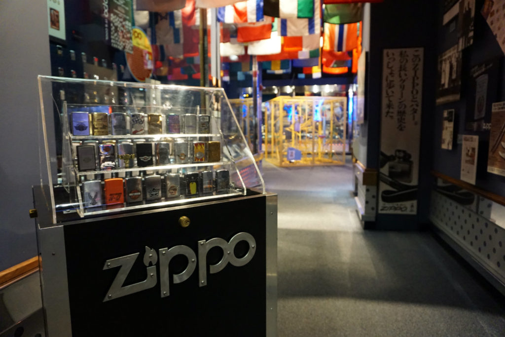 Zippo Lighter Display at the Zippo Case Museum in Bradford, Pennsylvania