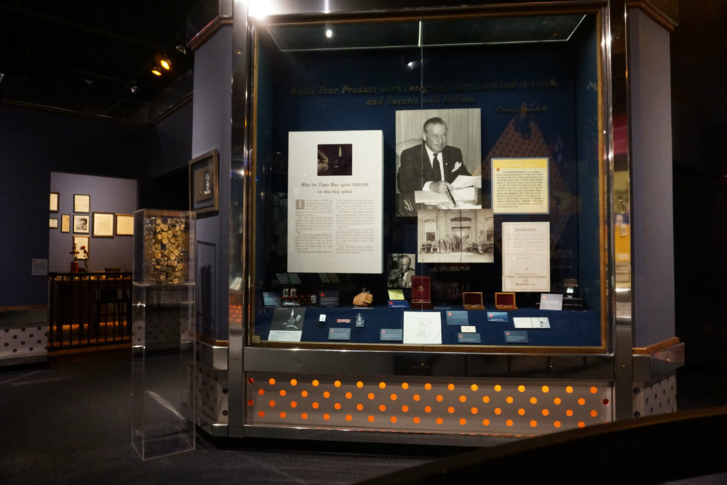 George Blaisdell Exhibit at the Zippo Museum in Bradford, Pennsylvania