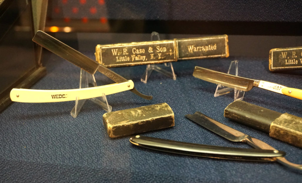 Straight Razors from the Case & Son Company at the Zippo Case Museum in Bradford, Pennsylvania