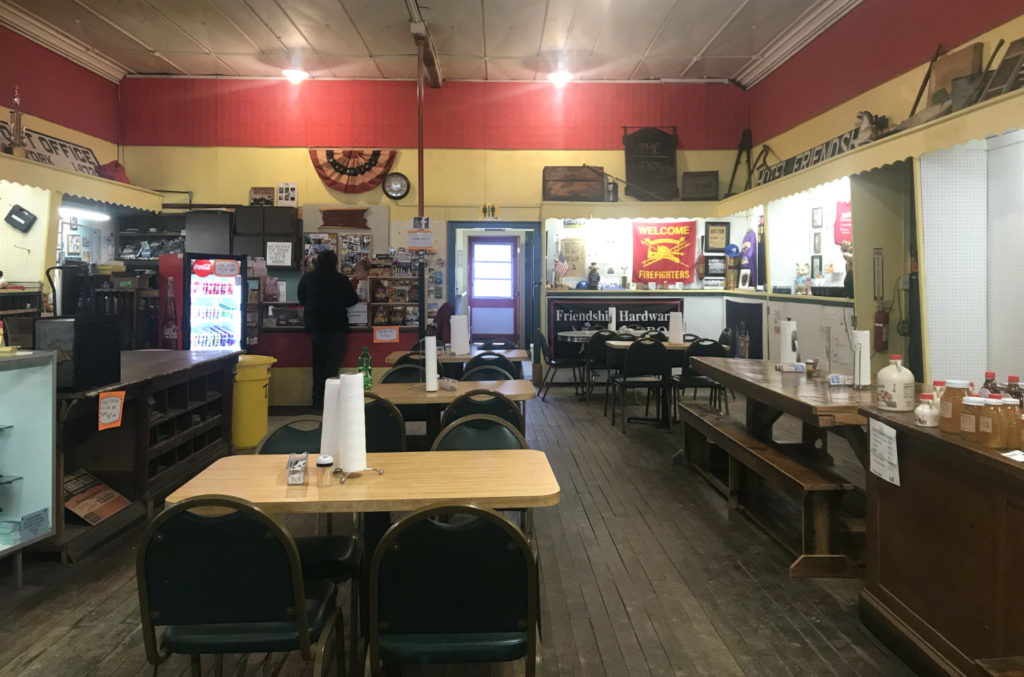 Dining Area at the Friendship Hardware Store in Allegany County