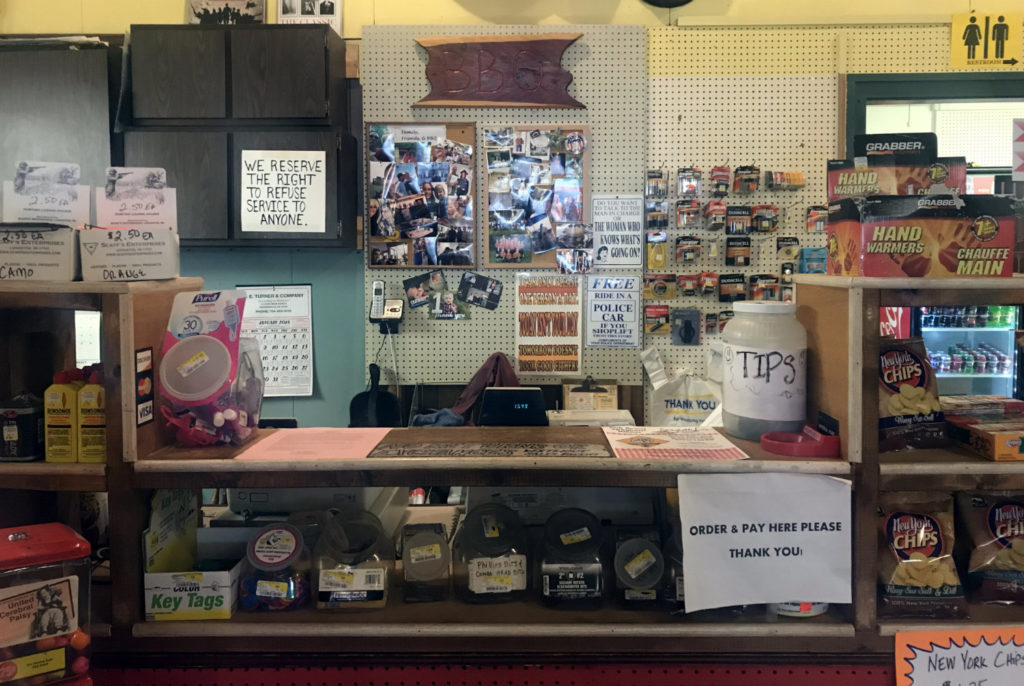 Counter at the Friendship Hardware Store in Allegany County