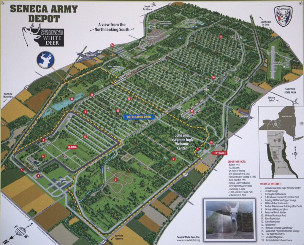 Map of the Seneca Army Depot in the Finger Lakes
