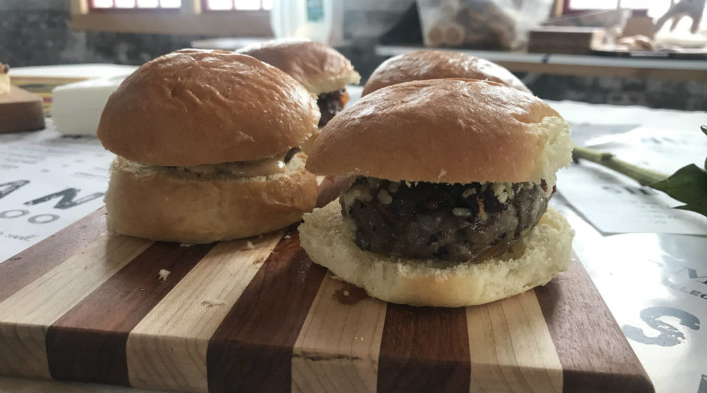 Hamburger Sliders at FEAST in the Finger Lakes at the Cracker Factory in Geneva, New York