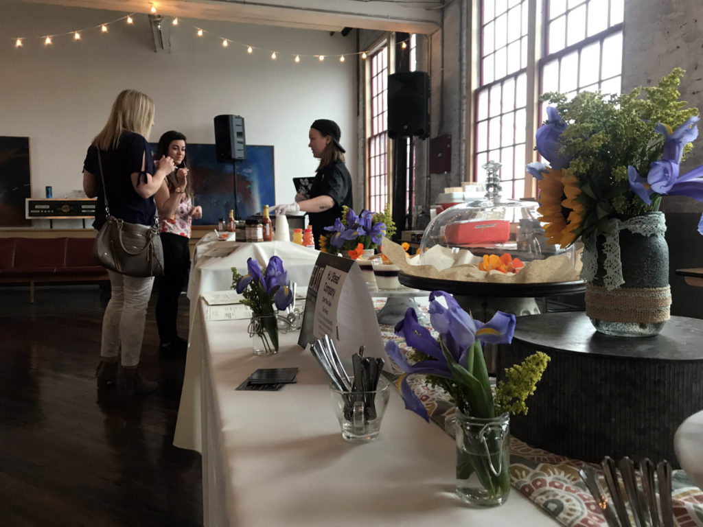 Table Setup at FEAST in the Finger Lakes at the Cracker Factory in Geneva, New York