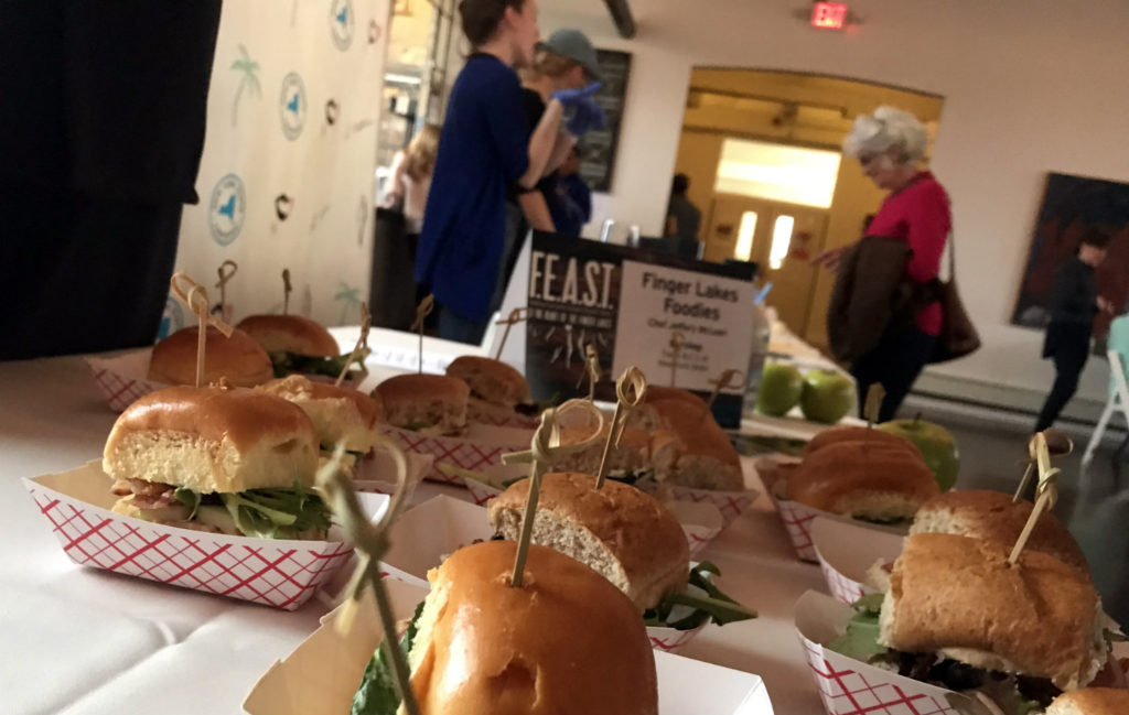 Sandwiches at FEAST in the Finger Lakes at the Cracker Factory in Geneva, New York