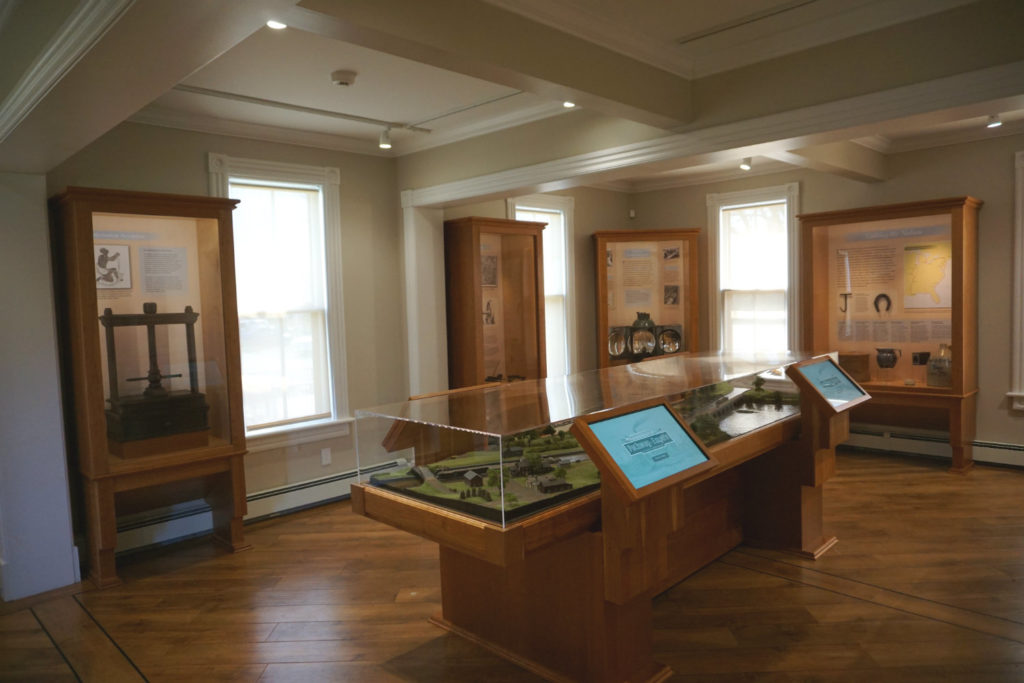 Erie Canal Exhibit at the Schoharie Crossing State Historic Site in Fort Hunter, New York