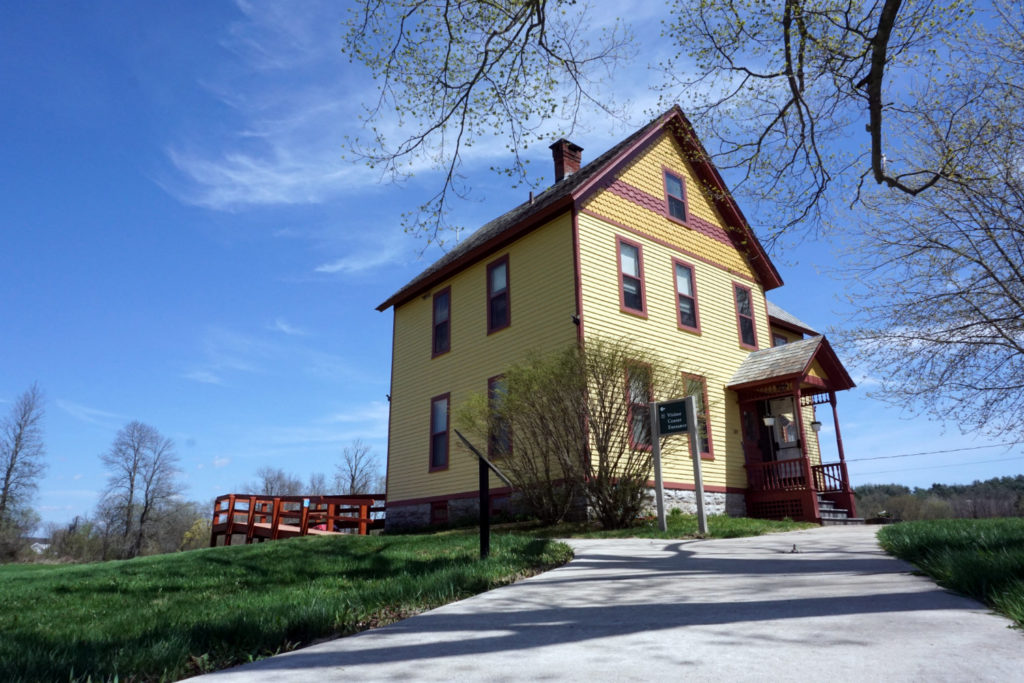 Visitor Center at the Schoharie Crossing State Historic Site in Fort Hunter, New York Montgomery County