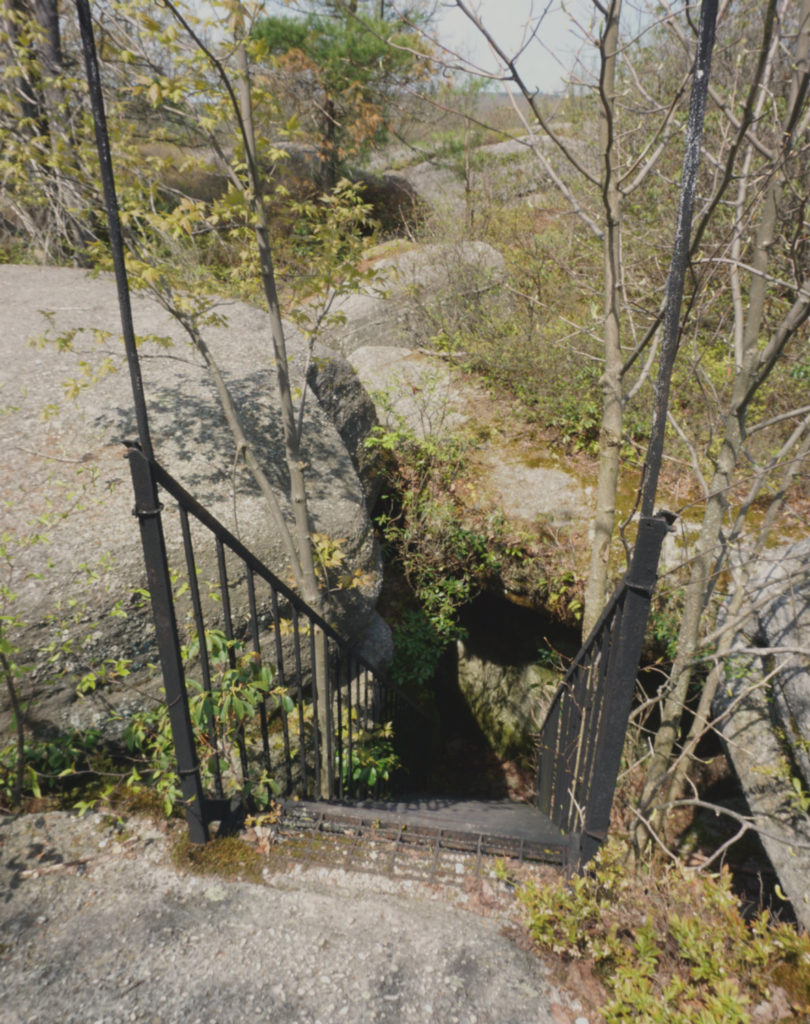 Descending Stairs in Rock City Park in Olean, New York