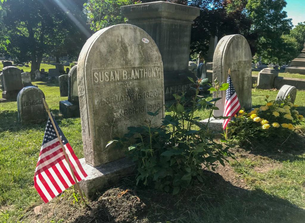 Grave of Susan B. Anthony in Mt. Hope Cemetery in Rochester, New York