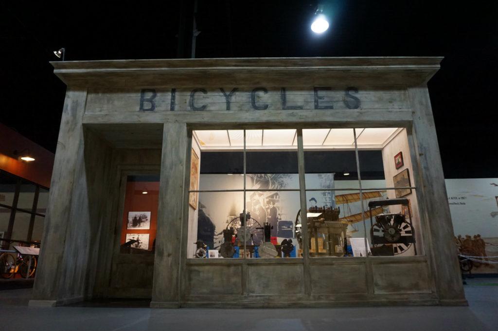 Bicycle Exhibit in the Glenn Curtiss Museum in Hammondsport