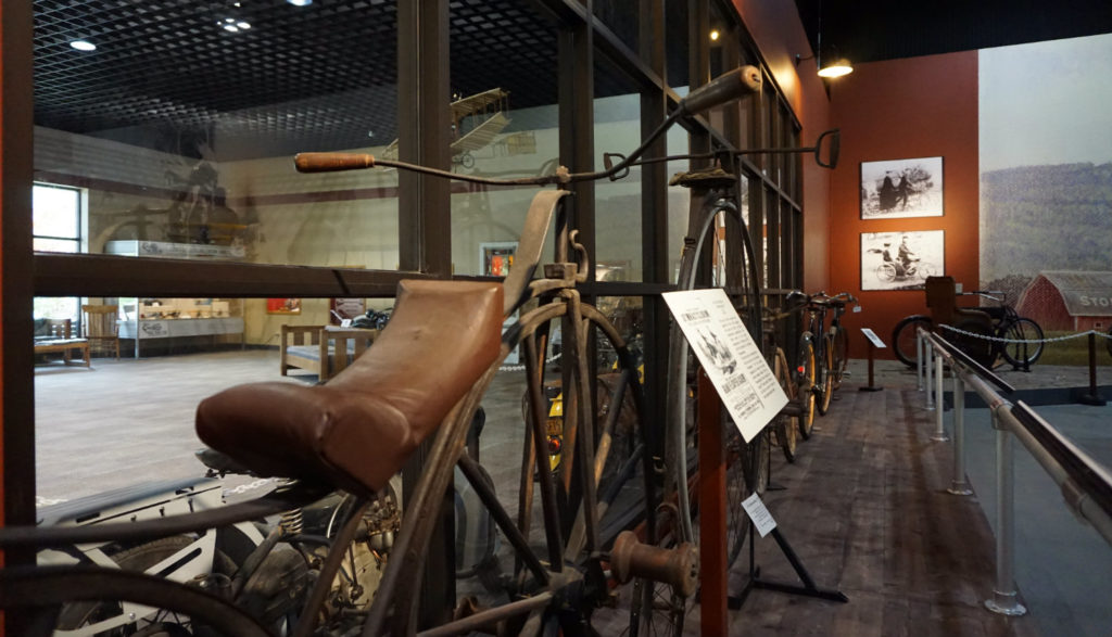 Early Bicycle Exhibit in the Glenn Curtiss Museum in Hammondsport