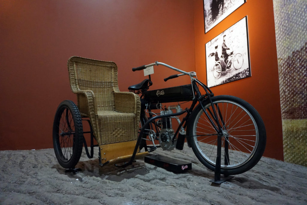 Early Motorcycle Sidecar in the Glenn Curtiss Museum