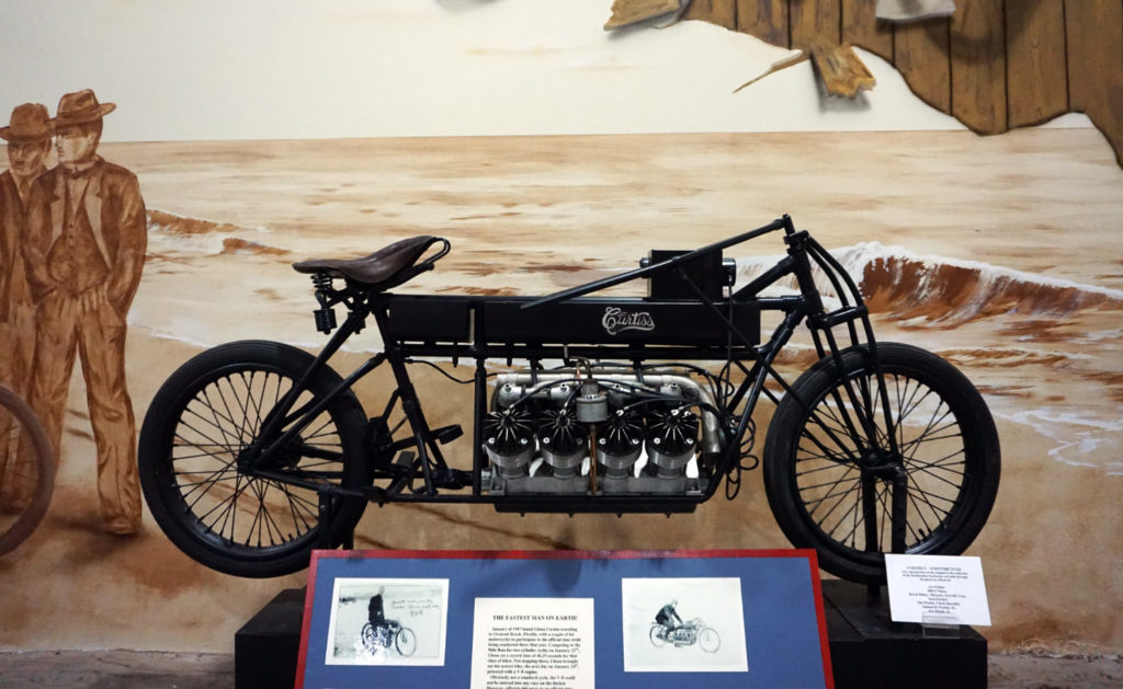 The Motorcycle with a V8 Engine Driven by Glenn Curtiss