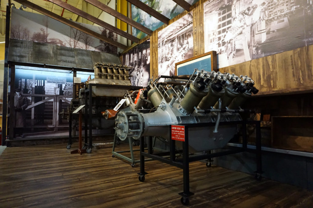 World War I Engines Inside the Glenn Curtiss Aviation Museum in Hammondsport
