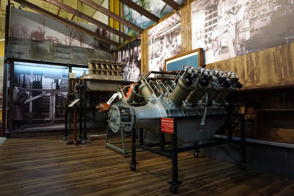 World War I Engines Inside the Glenn Curtiss Aviation Museum in Hammondsport