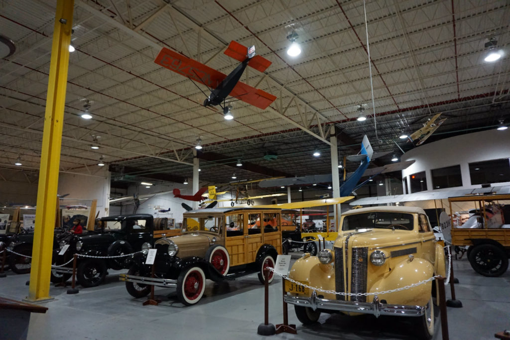 Vintage Car Display in the Glenn Curtiss Museum in Hammondsport in the Finger Lakes