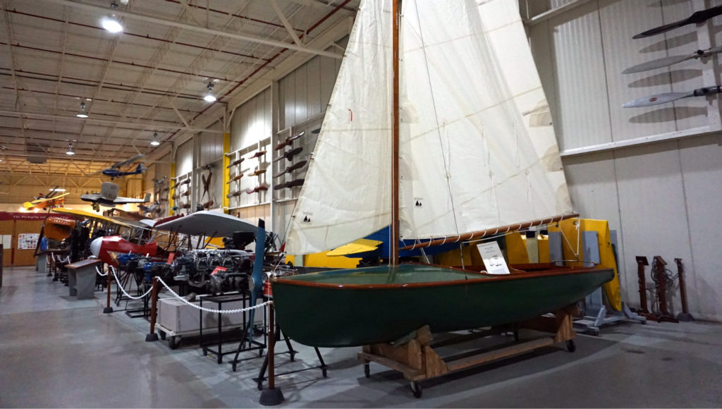 Boat Display in the Glenn Curtiss Museum in the Finger Lakes