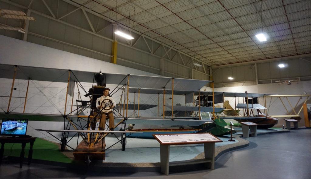 Airplane Exhibit in the Glenn Curtiss Museum in Hammondsport, New York