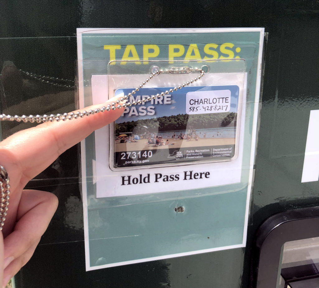 Empire Pass Being Used at an Electronic Station in Watkins Glen Park