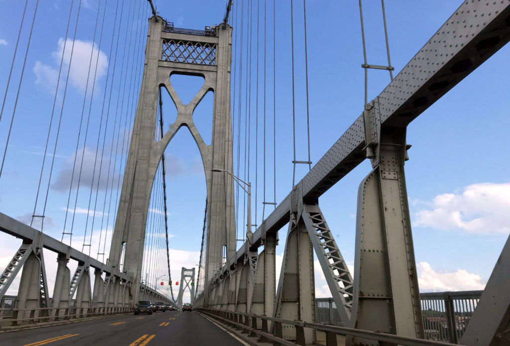 Crossing the Mid-Hudson River Bridge from New Paltz to Poughkeepsie, New York
