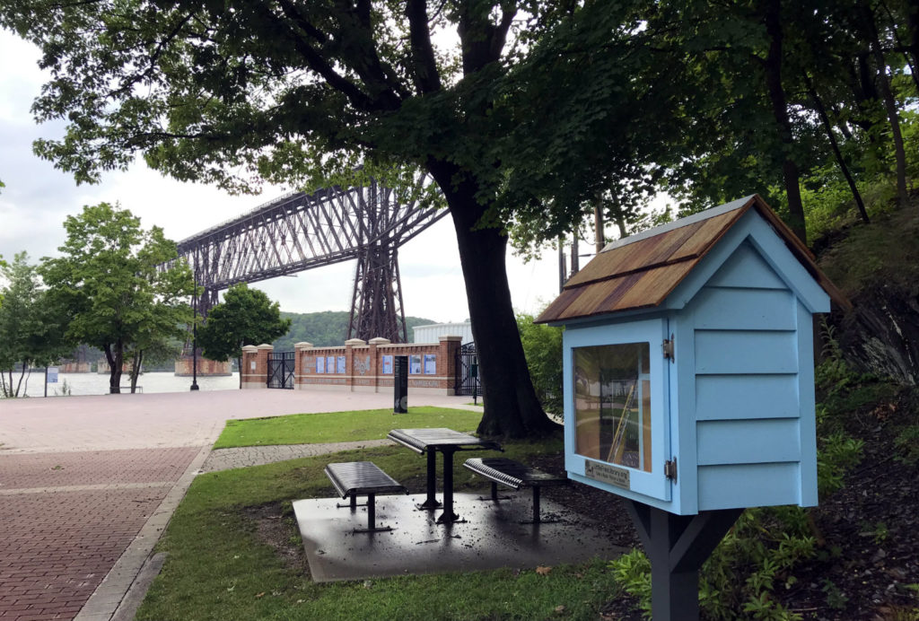 Little Free Library in Upper Park in Poughkeepsie, New York