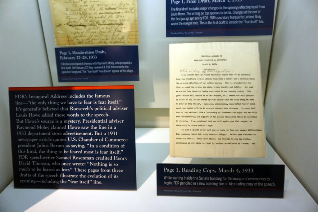 Original Documents of FDR's Inaugeral Address in Hyde Park