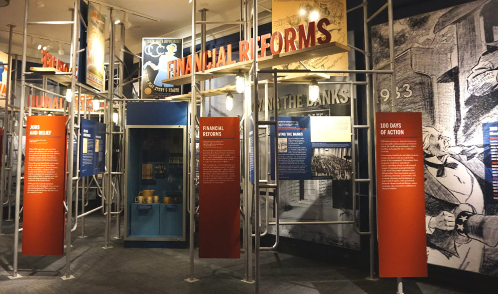 Financial Reforms Exhibit in the FDR Presidential Library and Museum in Hyde Park, New York