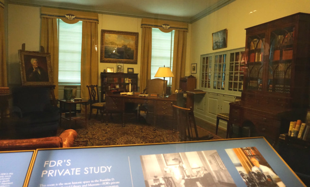 Recreation of FDR's Private Study in the FDR Presidential Library and Museum