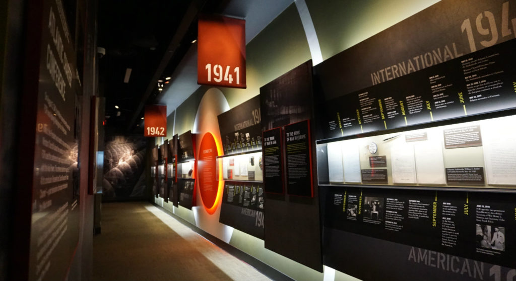 Timeline Exhibit in the FDR Presidential Library and Museum