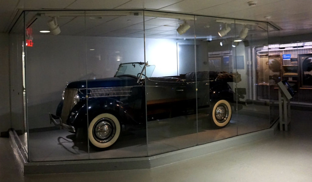 FDR's Car in the FDR Presidential Library and Museum in Hyde Park, New York