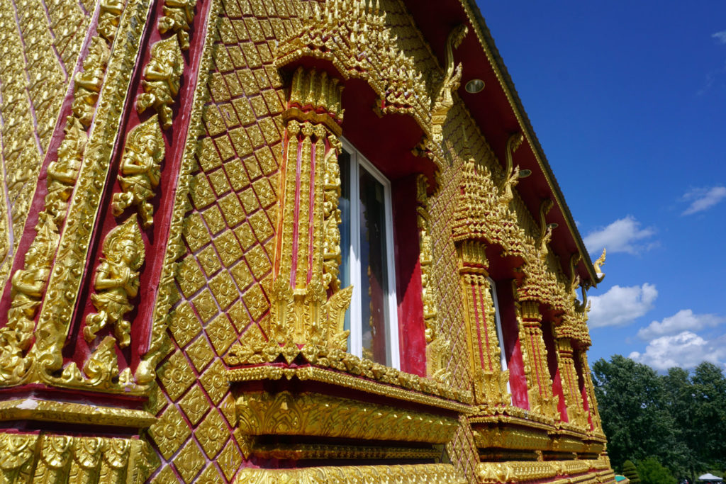 The Golden Temple at Wat Pa Lao Buddhadham in Henrietta, New York