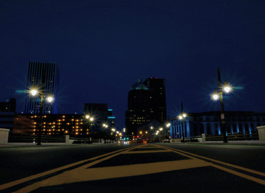 Downtown Rochester, New York at Night