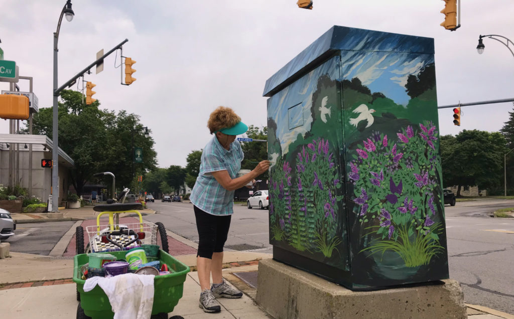 Painting the Linear Garden Mural in North Winton Village