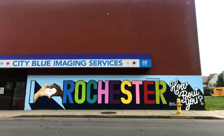 I Heart Rochester Mural