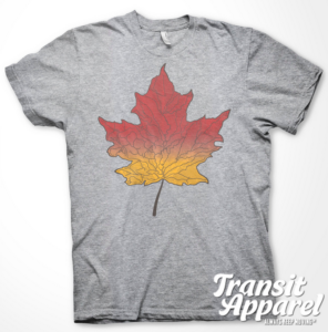 Transit Apparel Finger Lakes Leaf T-Shirt