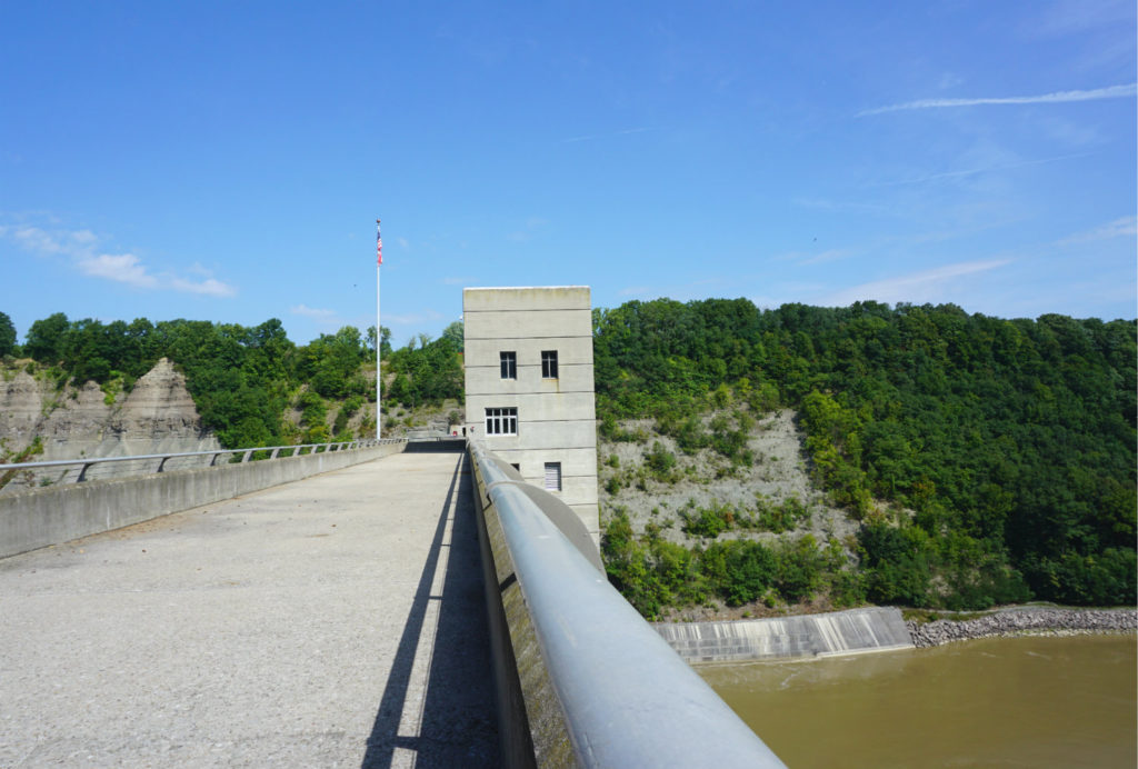 On Top of the Mt. Morris Dam in Letchworth
