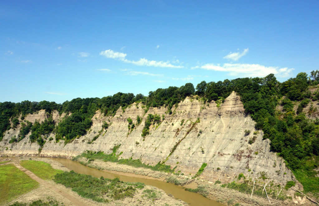 The Gorge in Letchworth Behind the Mt. Morris Dam