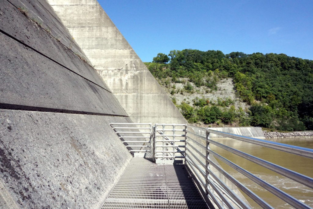 Observation Deck at the Bottom of the Mt. Morris Dam in Letchworth