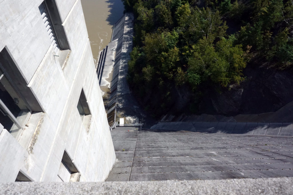 Looking Down the Mt. Morris Dam in Letchworth State Park