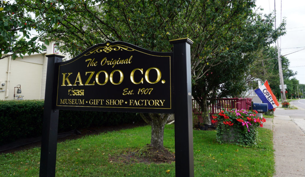 Sign at the Original Kazoo Company in Eden, New York