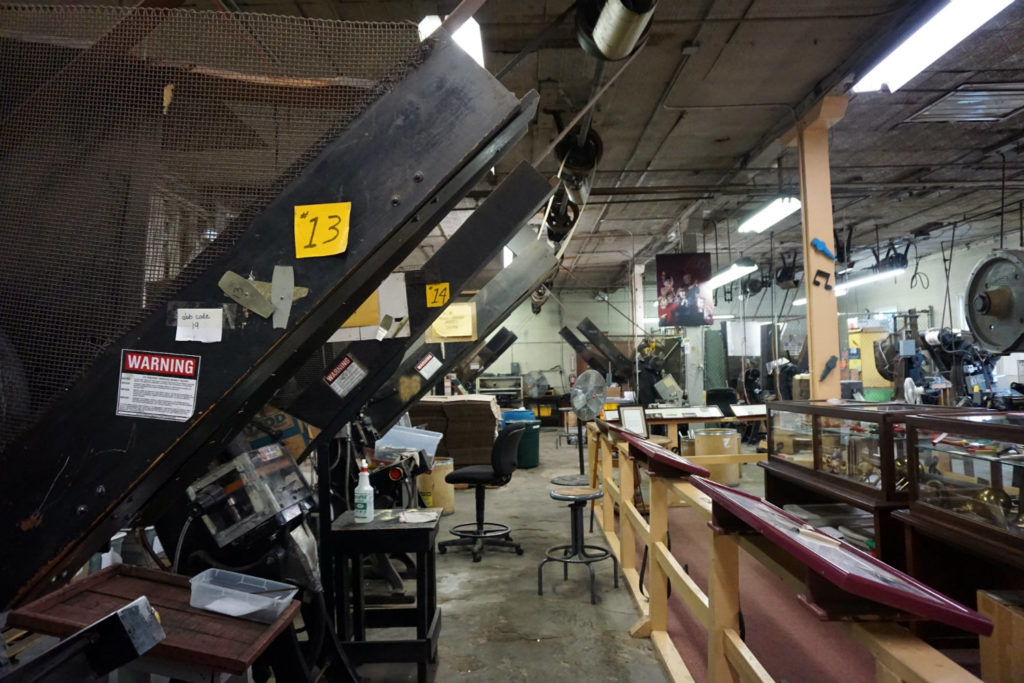 Machines at the Eden Kazoo Factory in Erie County