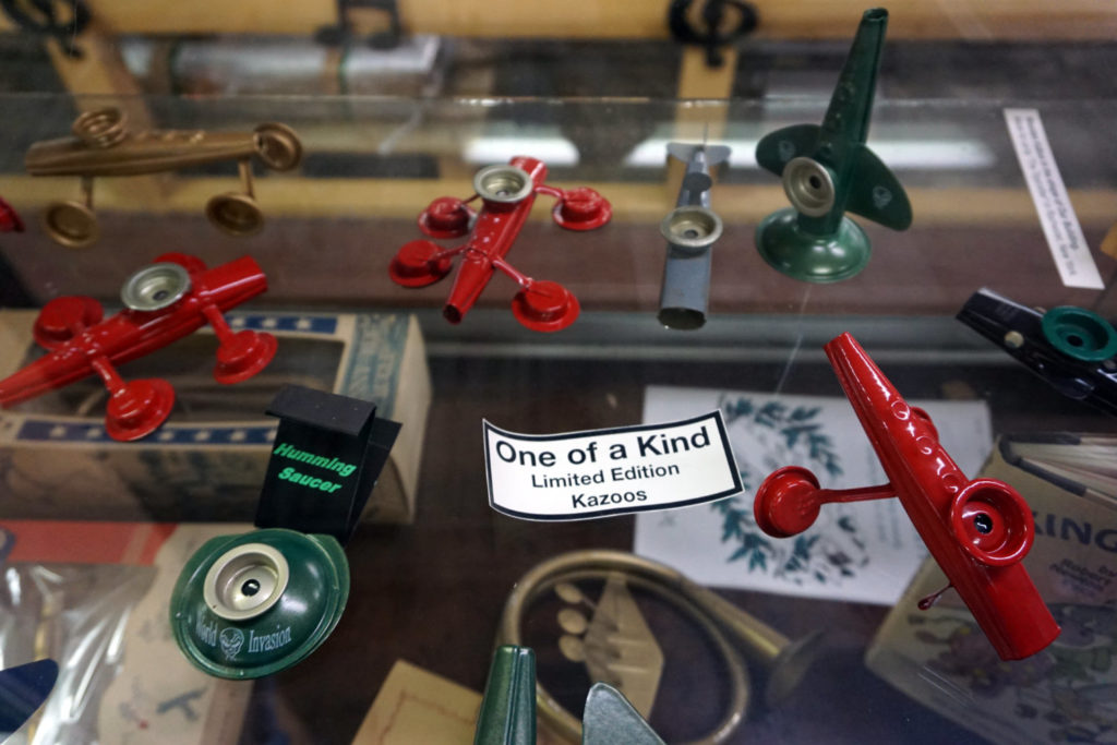 Display at the Eden Kazoo Museum Near Buffalo