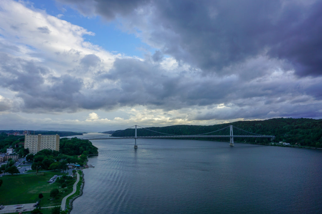 Looking South Down the Hudson River from Poughkeepsie