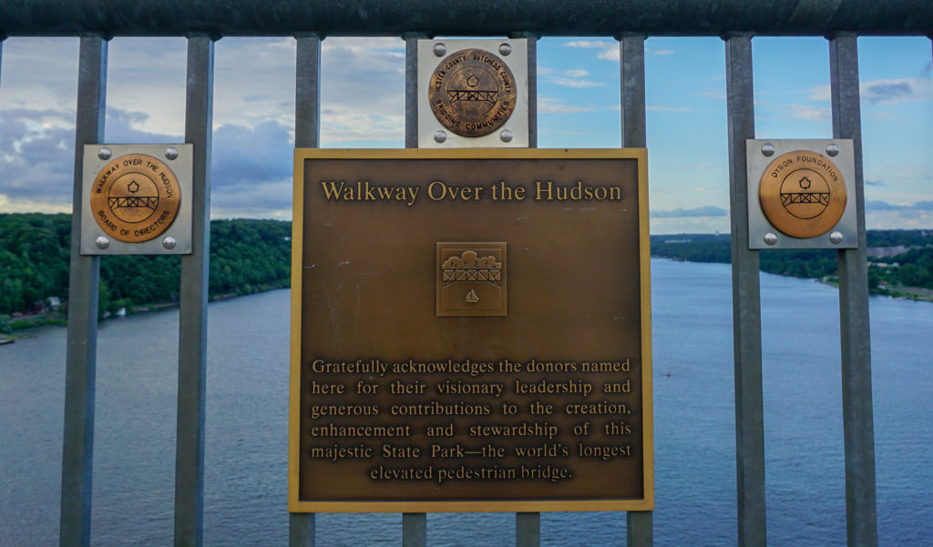 Donor Plaques on the Walkway Over the Hudson