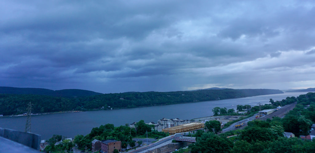 View Looking South from Walkway Over the Hudson in Poughkeepsie, New York