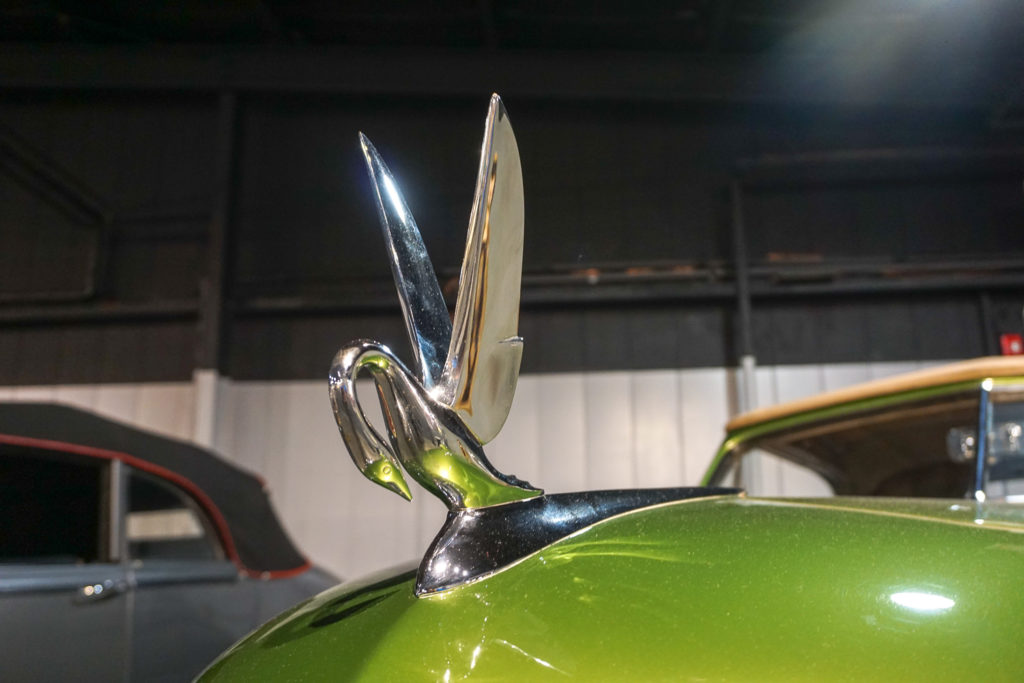 Packard Swan Antique Car Hood Ornament at the Northeast Classic Car Museum in Norwich, New York