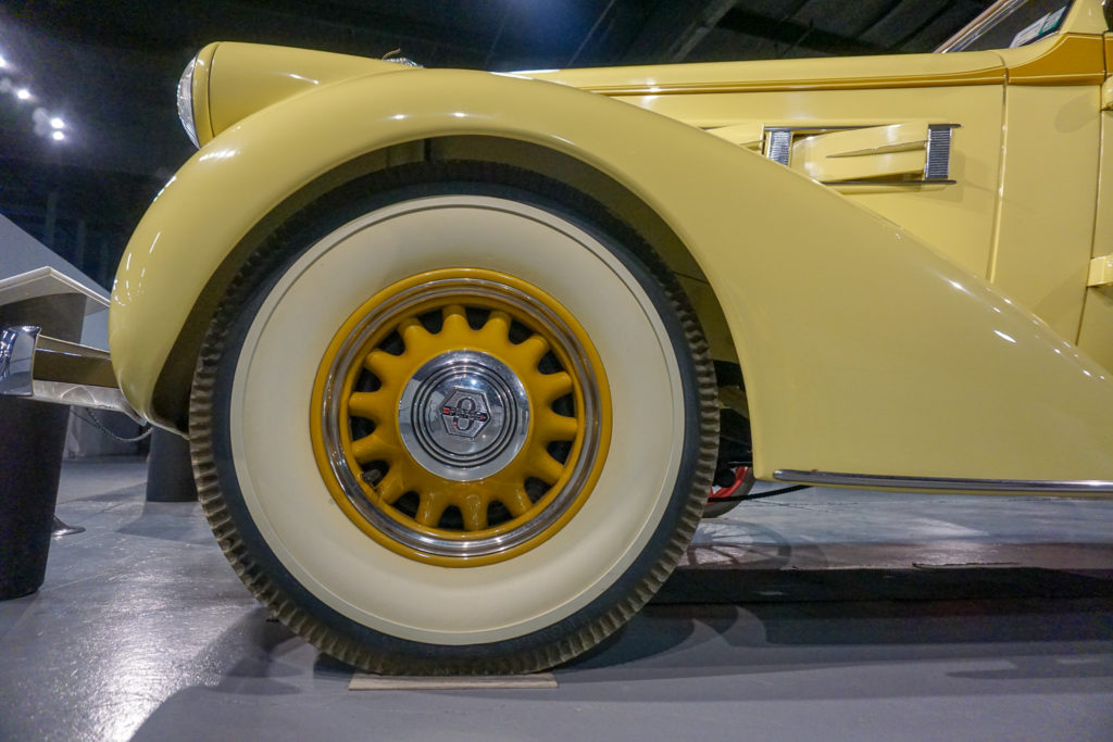 Closeup of Wheel at the Northeast Classic Car Museum in Norwich, New York