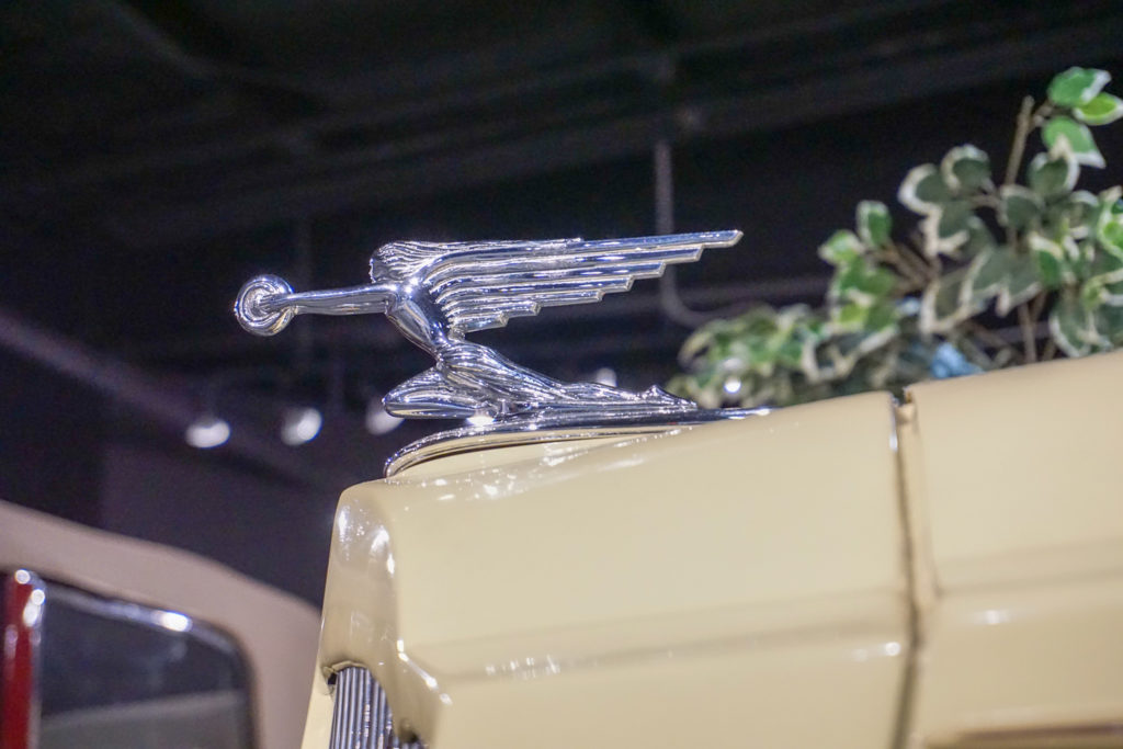 Packard Goddess of Speed Hood Ornament at the Northeast Classic Car Museum in Norwich, New York